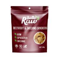 Hello Raw Beetroot & Oregano Crackers 100g