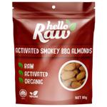 Hello Raw Activated Organic Smokey BBQ Almonds 80g