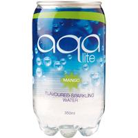 Aqa Lite Mango Flavoured Sparkling Water 350ml