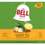 Bell TEA Ginger & Lemon Zesty Green Tea Bags 50ea