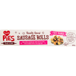 I Love Pies Really Good Sausage Rolls 400g