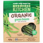Goodness Kitchen Organic Green Beans 400g
