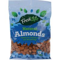 Fresh Life Natural Almonds 375g