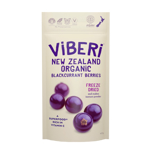 Viberi Freeze Dried New Zealand Organic Blackcurrant Berries 40g