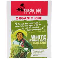 Trade Aid Organic White Jasmine Rice 1kg