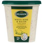 Delmaine White Wine & Bacon Pasta Sauce 325g