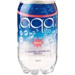 Aqa Lite Peach Flavoured Sparkling Water 350ml