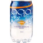 Aqa Lite Orange Flavoured Sparkling Water 350ml