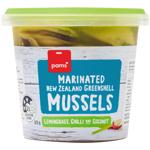 Pams Lemongrass Chilli & Coconut Marinated New Zealand Greenshell Mussels 375g