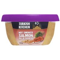 Turkish Kitchen Hot Smoked Salmon Dill & Cashew 140g