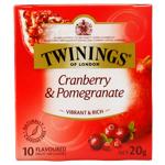Twinings Infusion Cranberry Pomegranate Tea Bags 10ea