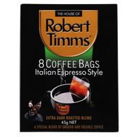 Robert Timms Italian Espresso Style Coffee Bags 8pk