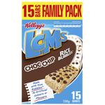 Kellogg's LCMs Choc Chip Rice Bubbles Bars 15pk
