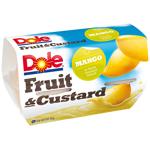 Dole Fruit & Custard Mango In Vanilla Custard 4pk