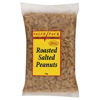 Value Pack Roasted Salted Peanuts 750g