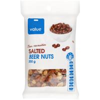 Value Salted Beer Nuts 200g
