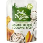 Only Organic Mango Chicken & Coconut Rice 10+ Months 170g