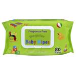 Silk Regular Fragrance Free Baby Wipes 80ea