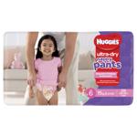 Huggies Nappy Pants Ultra Dry Nappy Pants Girls 15kg & Over Junior 28ea