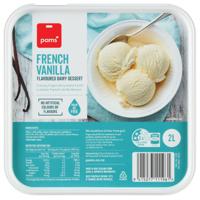 Pams French Vanilla Frozen Dairy Dessert 2l