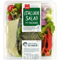 Pams Fresh Italian Salad With Dressing 260g