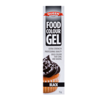 Queen Adelaide Black Gel Food Colour 15g