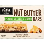 Tasti Peanut Butter & Almond Nut Butter Bars 175g