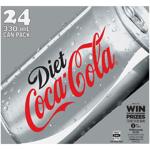 Coca Cola Diet Soft Drink Cans 24pk