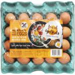 Local Yolkels Free Range Eggs Mixed Size 20pk