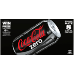 Coca Cola Zero Soft Drink Cans 8pk
