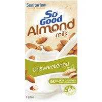 Sanitarium So Good Unsweetened Almond Milk 1l
