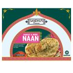 Sandhu's Premium & Garlic Herb Naan 300g