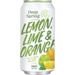 Deep Spring Lemon Lime & Orange Soft Drink 440ml