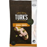 Turk's Free Range Manuka Smoked Whole Breast Chicken 400g