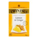 Twinings Revitalising Lemon & Ginger Tea 40pk
