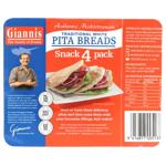 Giannis Snack Pack Pita Bread 4ea