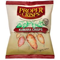 Proper Crisps Hand Cooked Lightly Salted Kumara Chips 35g