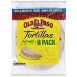 Old El Paso Tortillas 6 Pack 240g