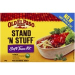 Old El Paso Stand 'N Stuff Soft Taco Kit 8 Pack 348g