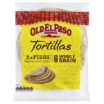 Old El Paso Wholegrain Tortillas 6 Pack 6pk