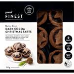 Pams Finest Butter Crust Dark Cocoa Christmas Tarts 9ea