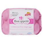 Bon Appetit Free Range Size 7 Eggs 6ea
