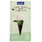 Snowdon Choc Mint Waffle Cones 12ea