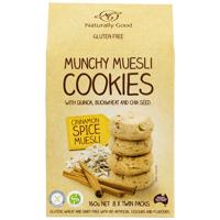 Naturally Good Cinnamon Spice Munchy Muesli Cookies 160g