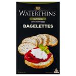 Waterthins Bagelettes Bagel Style Toasts Garlic 125g