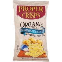 Proper Crisps Hand Cooked Marlborough Sea Salt Organic Potato Crisps 150g