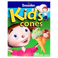Snowdon Kid's Cones 30ea