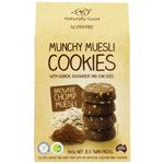Naturally Good Brownie Chomp Munchy Muesli Cookies 160g