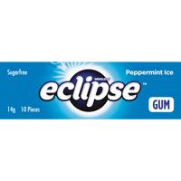 Wrigley's Eclipse Ice Peppermint  Sugarfree Gum 14g