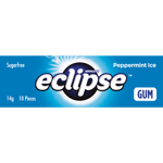 Wrigley's Eclipse Ice Peppermint  Sugarfree Gum 14g